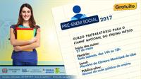 Aulas do Pré-Enem Social começam em maio