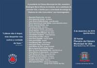 Câmara e Femac realizam sessão solene de entrega do Diploma de Líder Comunitário