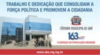 Câmara Municipal de Ubá comemora hoje 163 anos