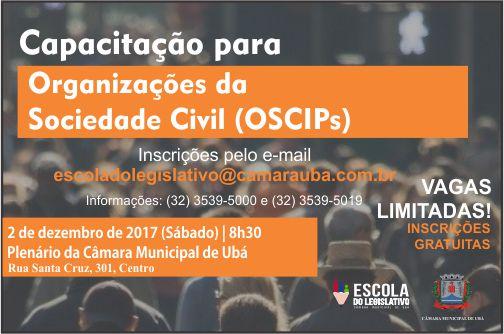 Câmara Municipal de Ubá promove curso de capacitação para Organizações da Sociedade Civil
