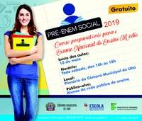 Câmara recebe inscrições para o Pré-Enem Social 2019