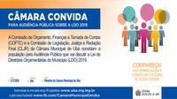CLJR e COFTC promovem audiência pública para elaboração da LDO 2019