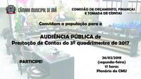 Comissão de Orçamento realiza Audiência Pública na próxima segunda-feira