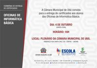 Escola do Legislativo promove cerimônia de entrega de certificado