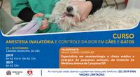 Inscrições abertas para o curso gratuito de anestesia inalatória em animais