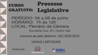 Processo Legislativo é o novo tema do curso gratuito promovido pela CMU